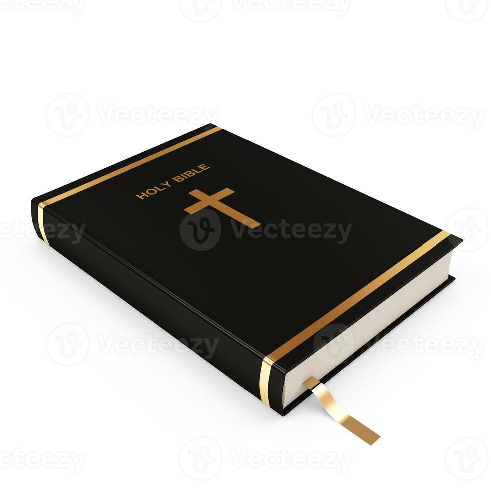 sainte bible isolé sur fond blanc photo