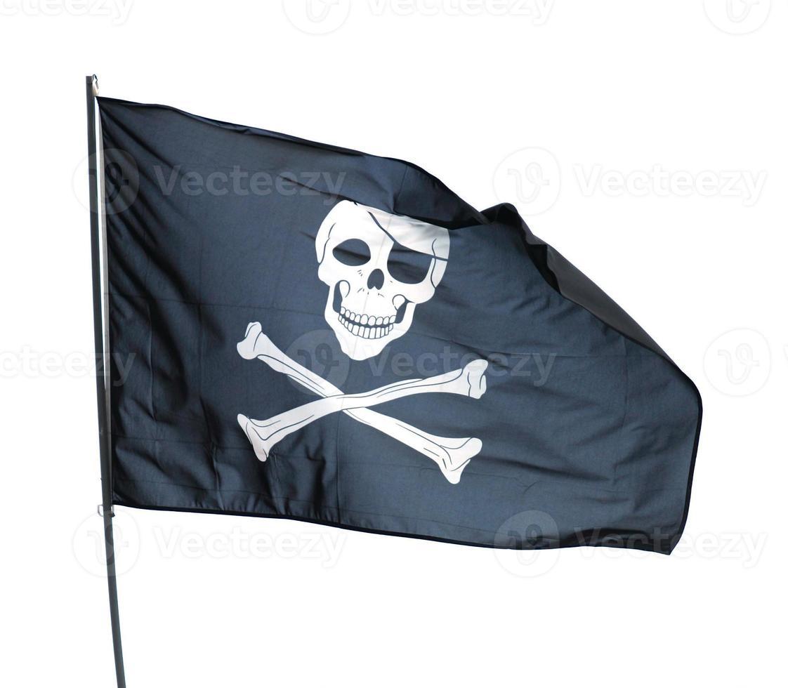 bandera de un pirata foto