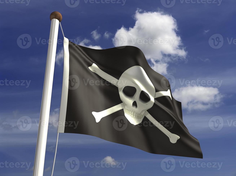 bandiera teschio (con tracciato di ritaglio) foto
