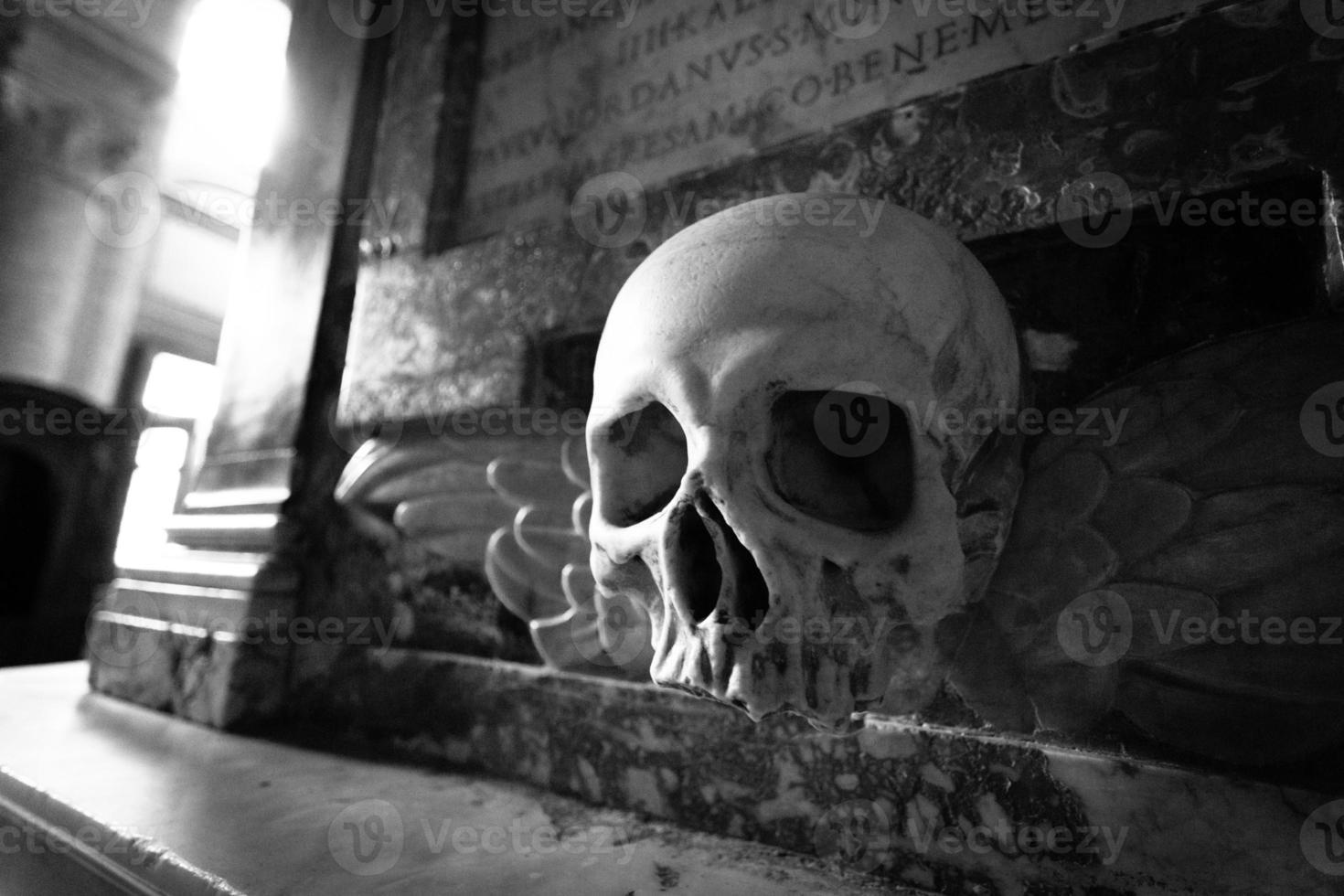 crâne ailé - ornement photo