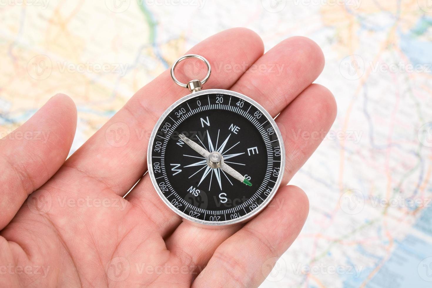 kompas en kaart foto