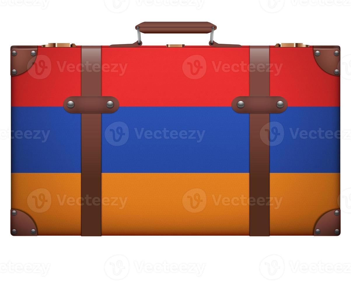 klassieke vintage bagagekoffer voor op reis foto