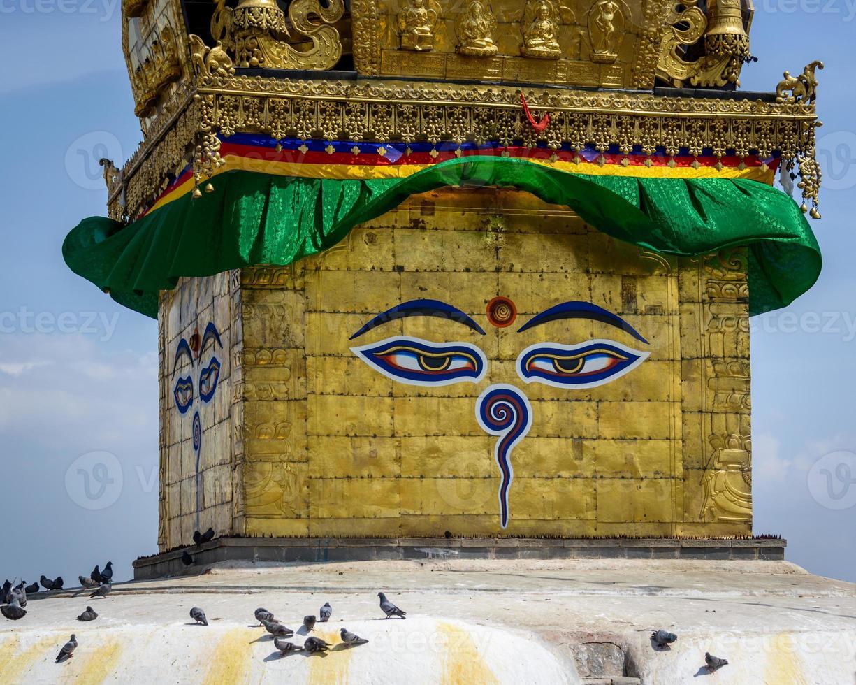 Swayambhunath stupa à Katmandou photo