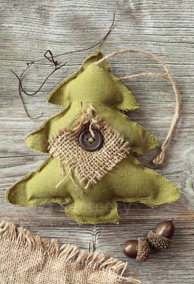 árvore de natal de tecido foto