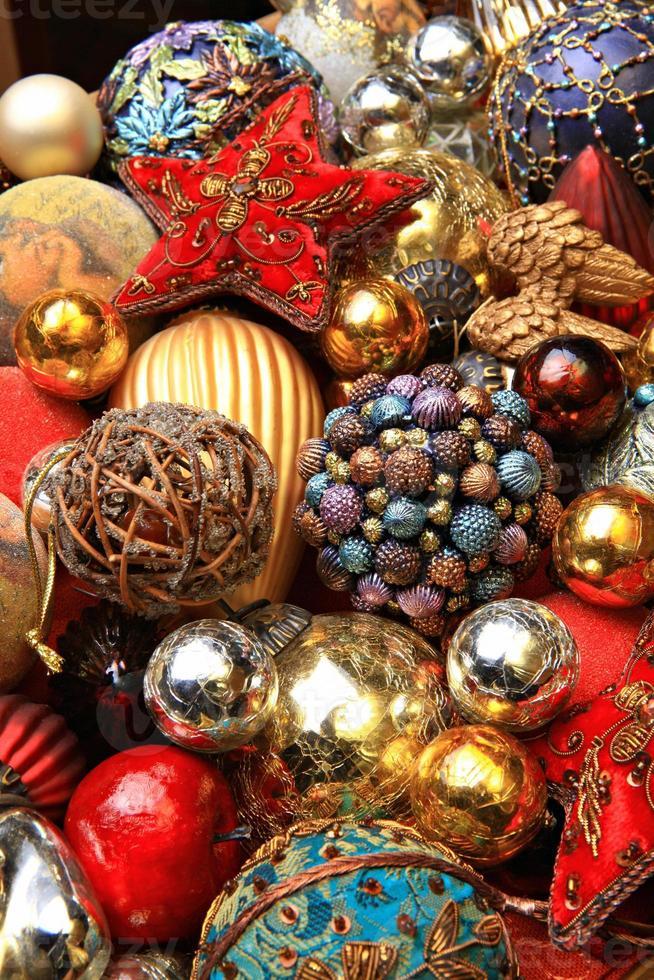 brinquedos da árvore de natal foto