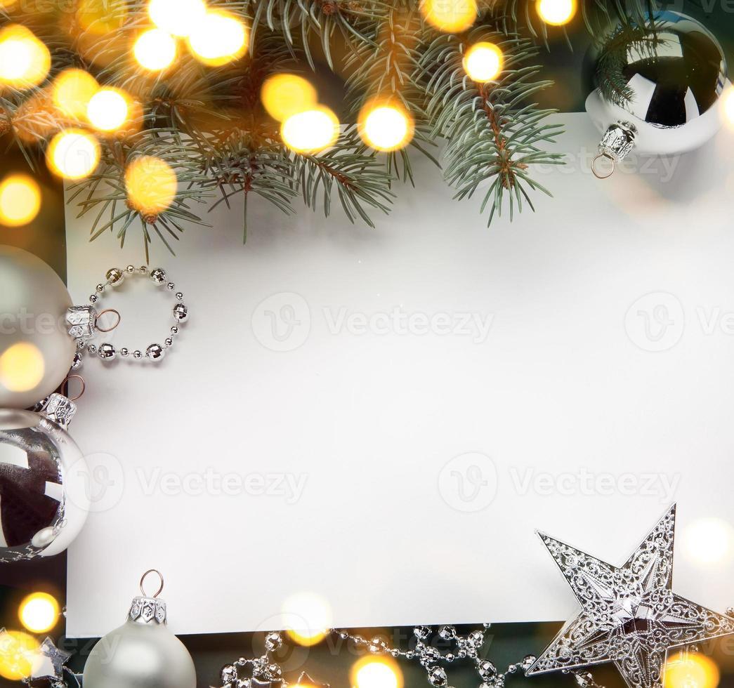 Fondo de vacaciones de Navidad de arte; luz del árbol foto