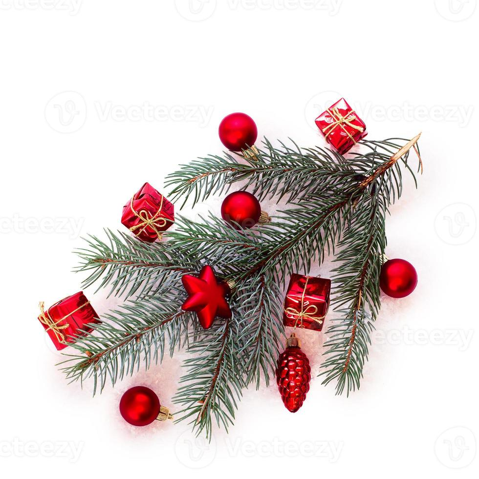 Christmas tree with baubles photo