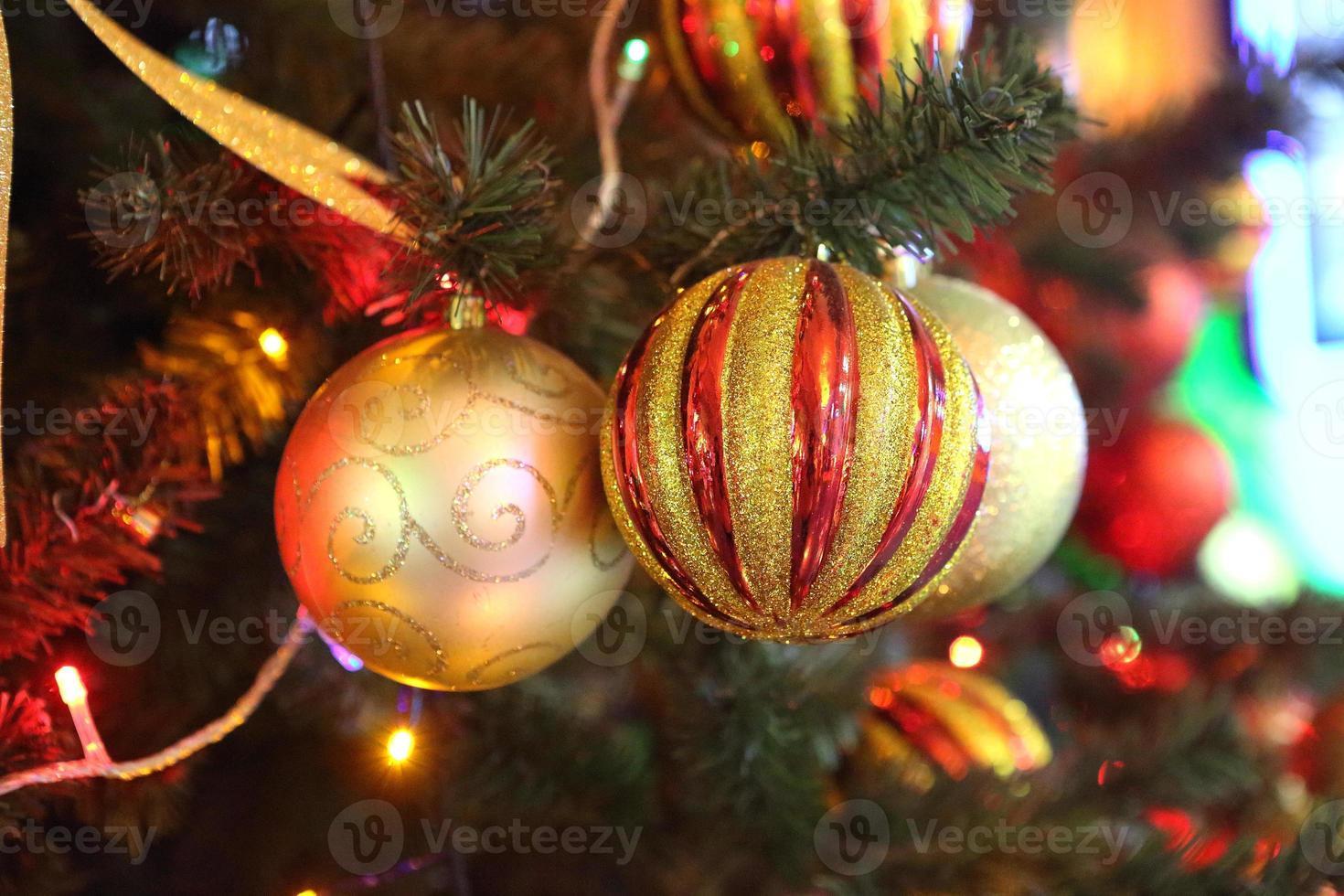 decorou linda árvore de natal foto