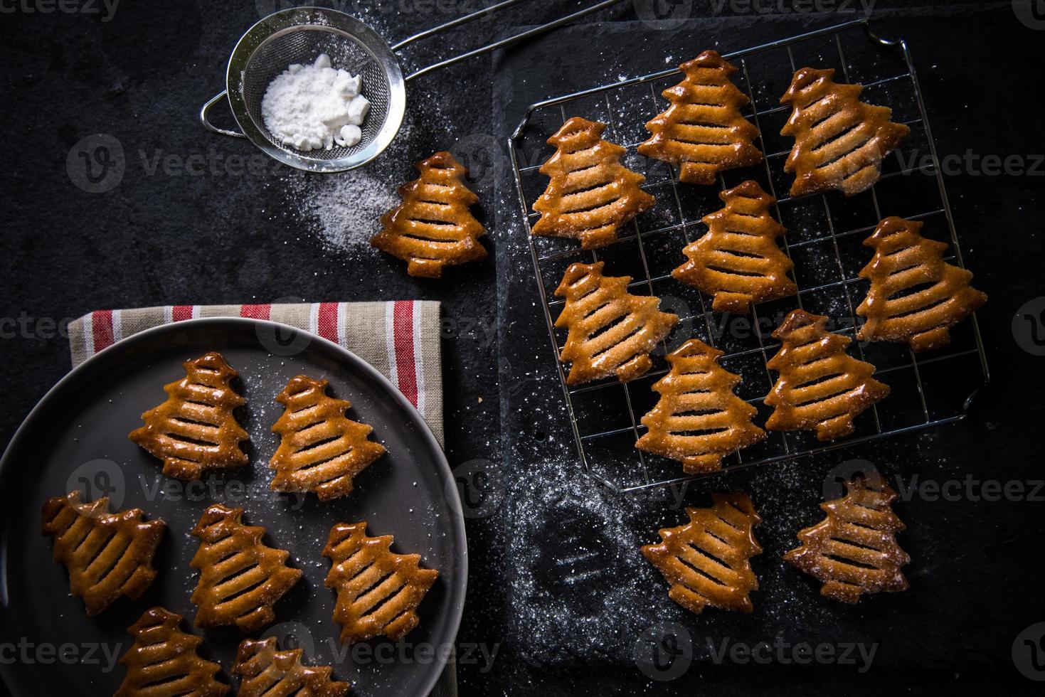 kerstboom vorm cookies foto