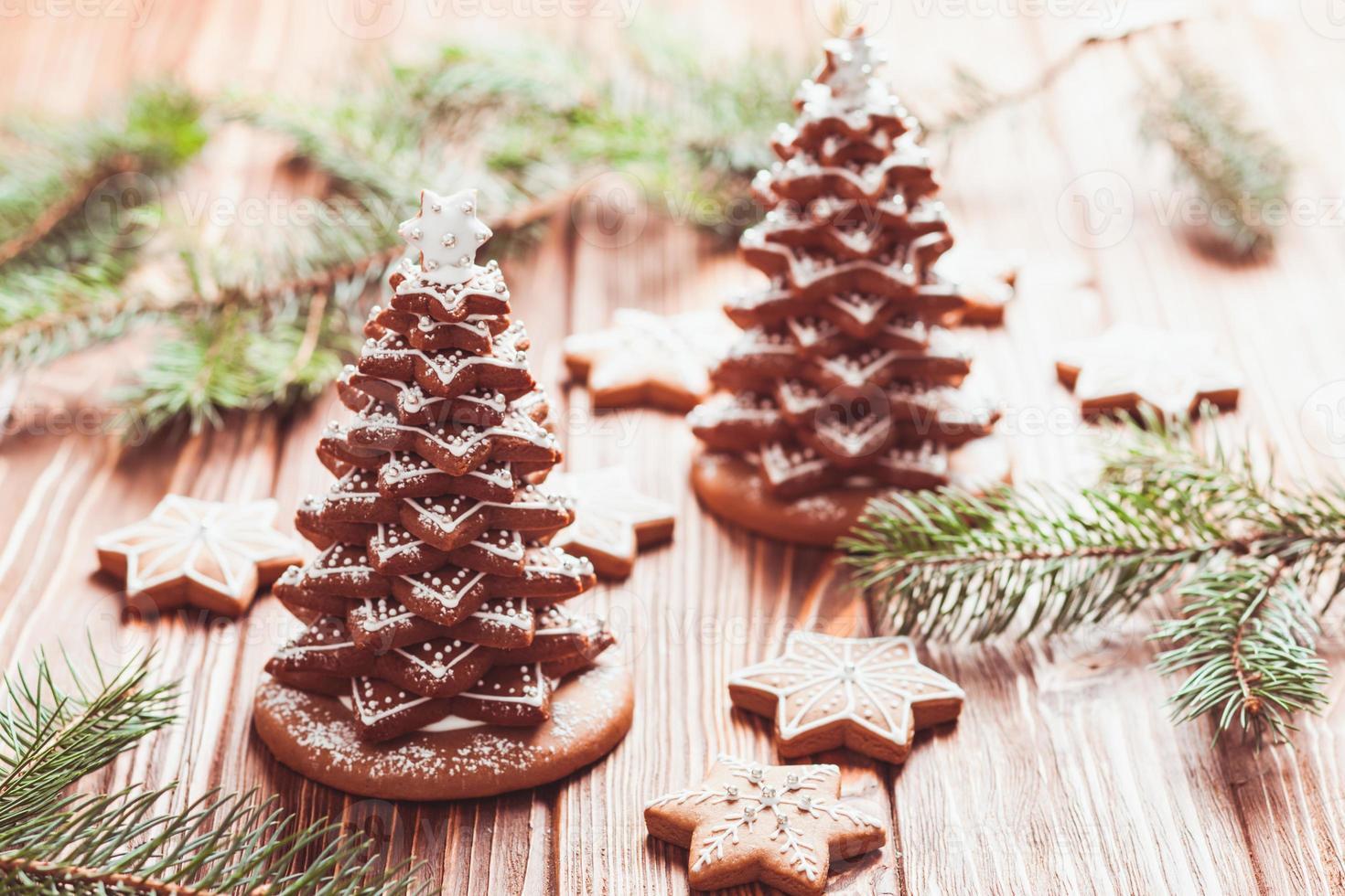 árvore de natal de gengibre foto