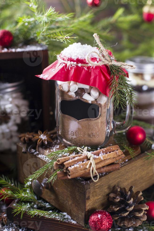 mistura de chocolate quente foto