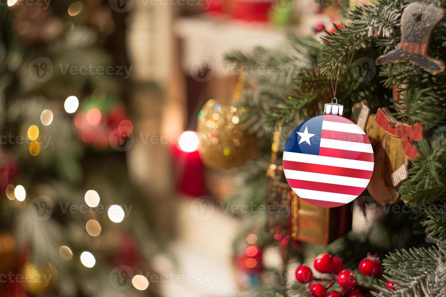 cristmas afgeronde vlag van de vs foto