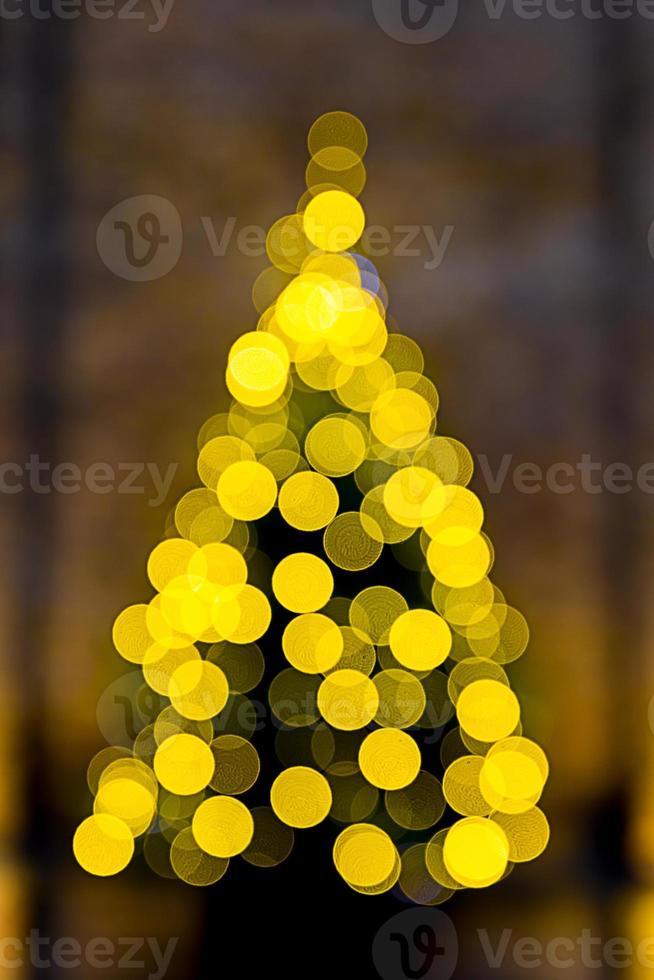 kerstboom het bokeh-effect foto