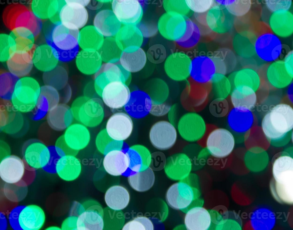 ligths sfocati dell'albero di Natale foto