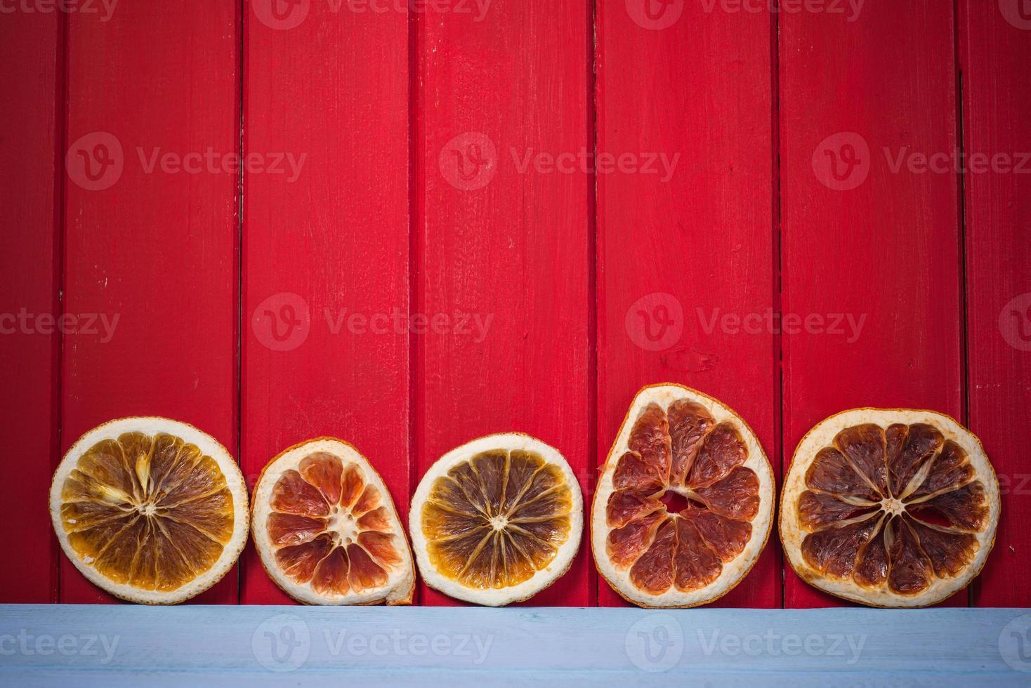 natuurlijke gedroogde fruit plakjes Kerst achtergrond foto