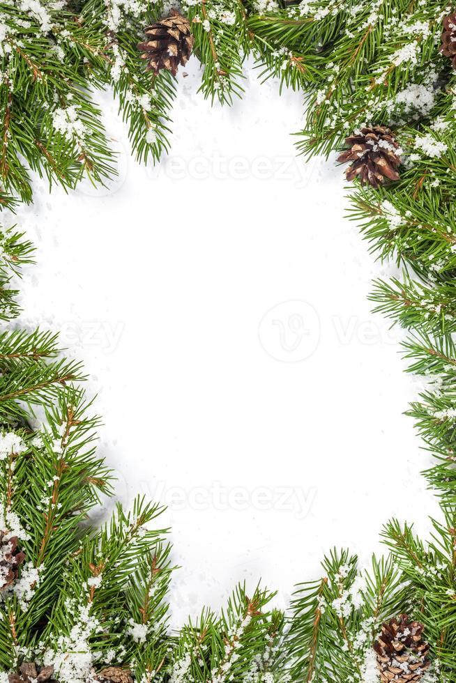 fondo de navidad. marco de víspera foto
