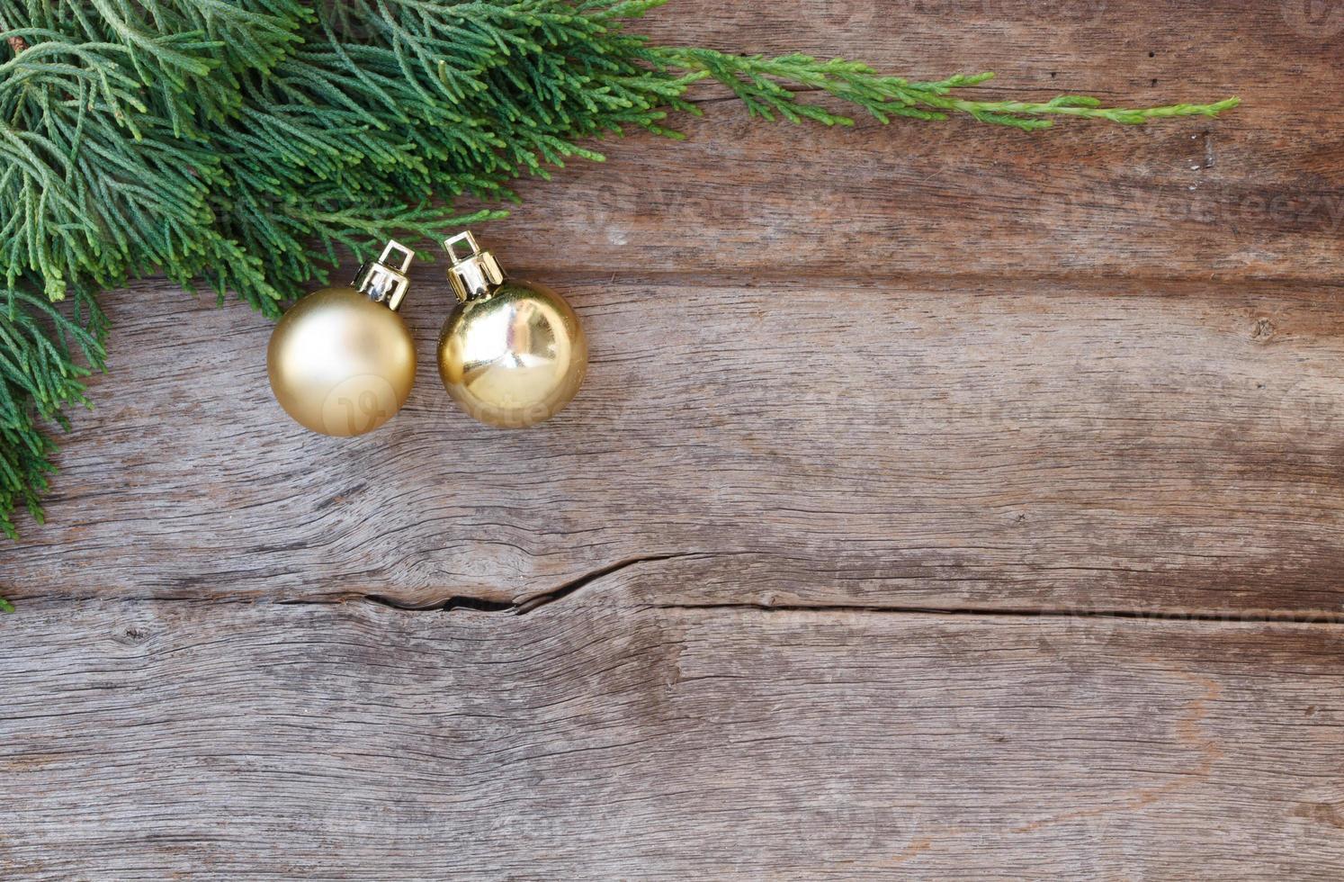 Kerst achtergrond met decoratiegift foto