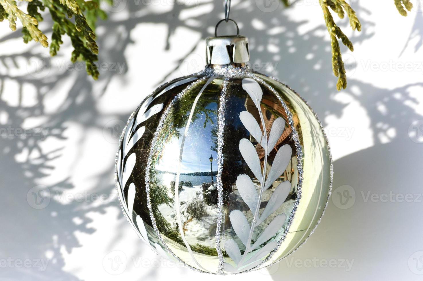 gold  Christmas ball photo
