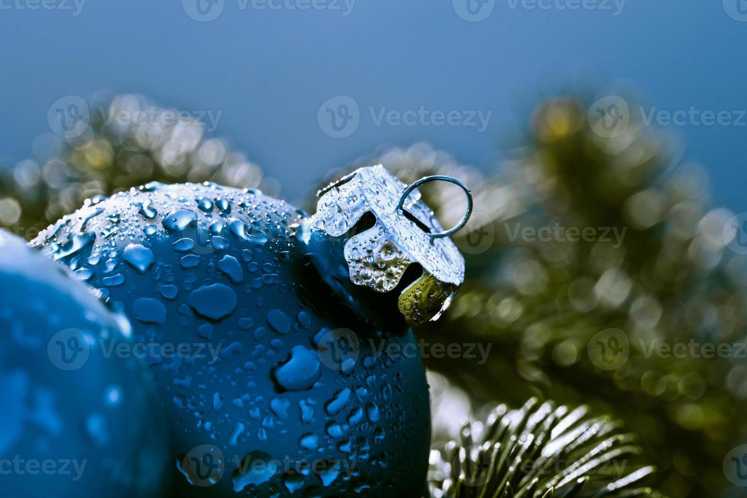 decorações de natal azuis foto