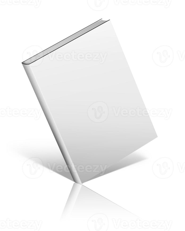 Blank book cover on white background. photo