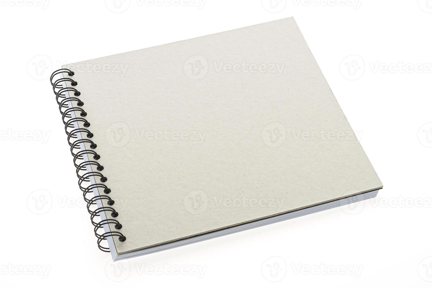 Blank notebook isolated photo