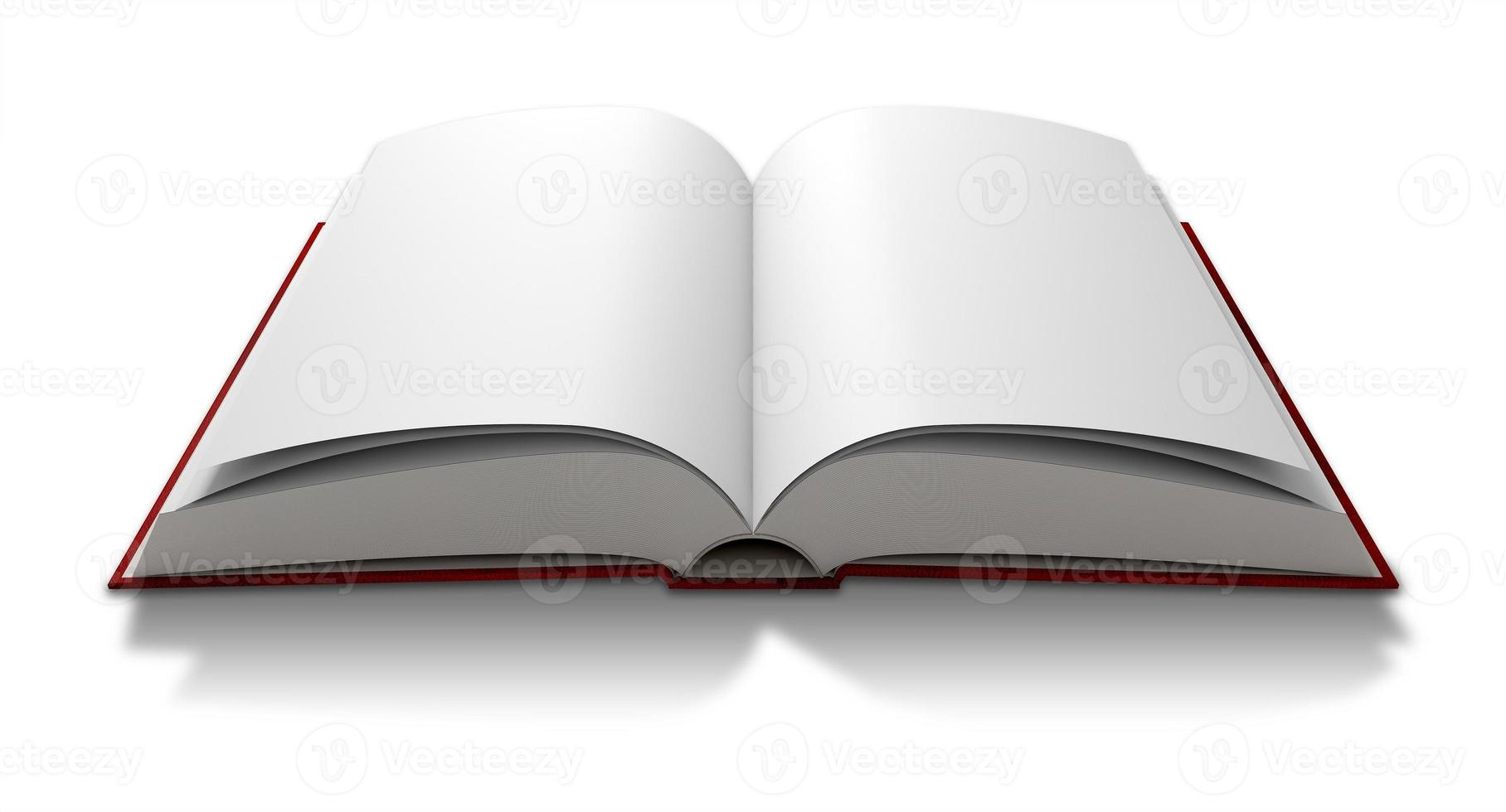 Blank Paged Book Open photo