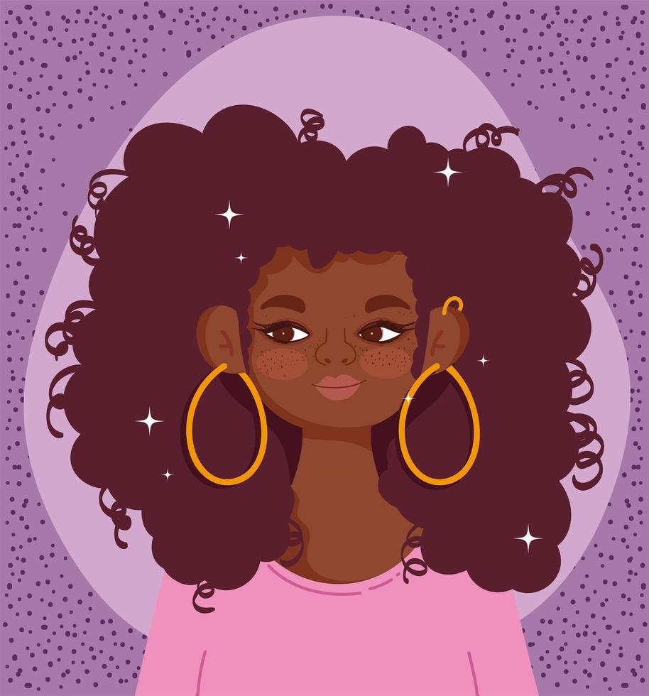 African American young woman portrait vector