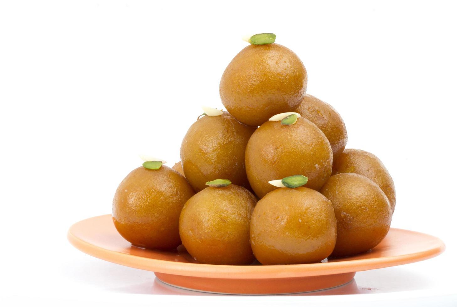 gulab jamun, comida dulce tradicional india foto