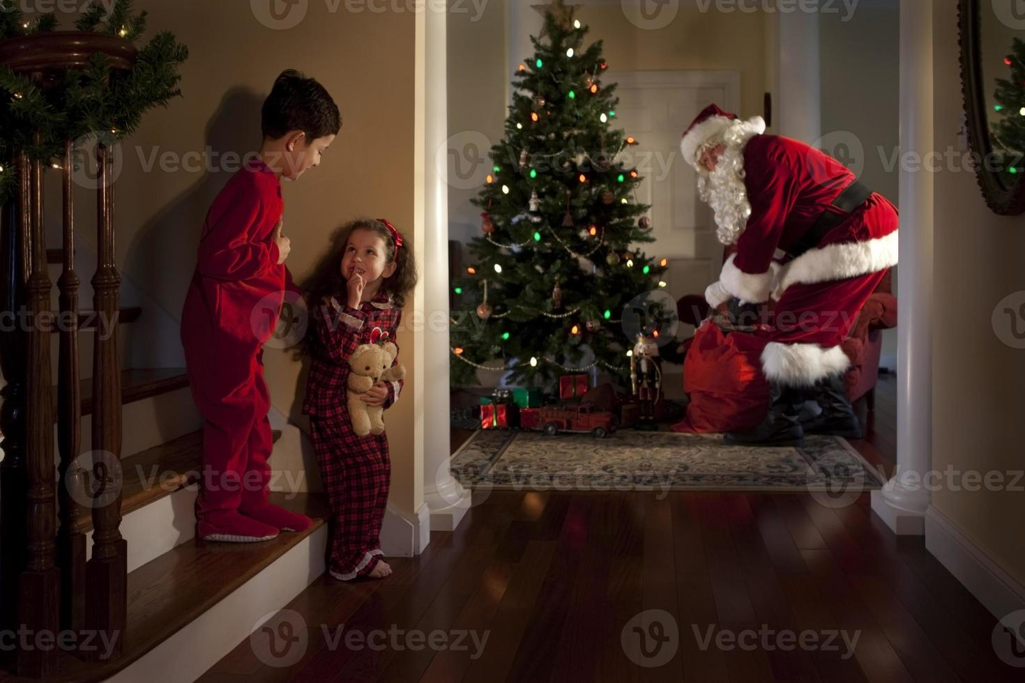 Visit from Santa Claus photo