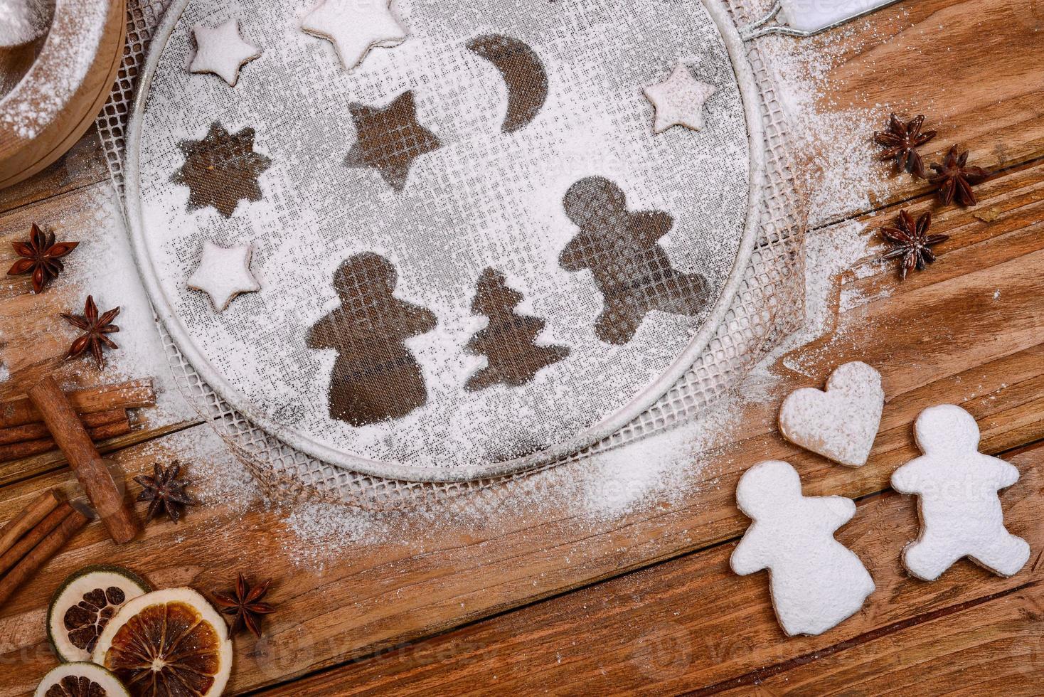 galletas de navidad en escena divertida foto