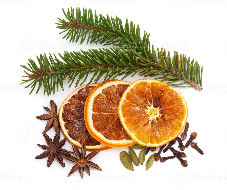 frutas y especias navideñas foto