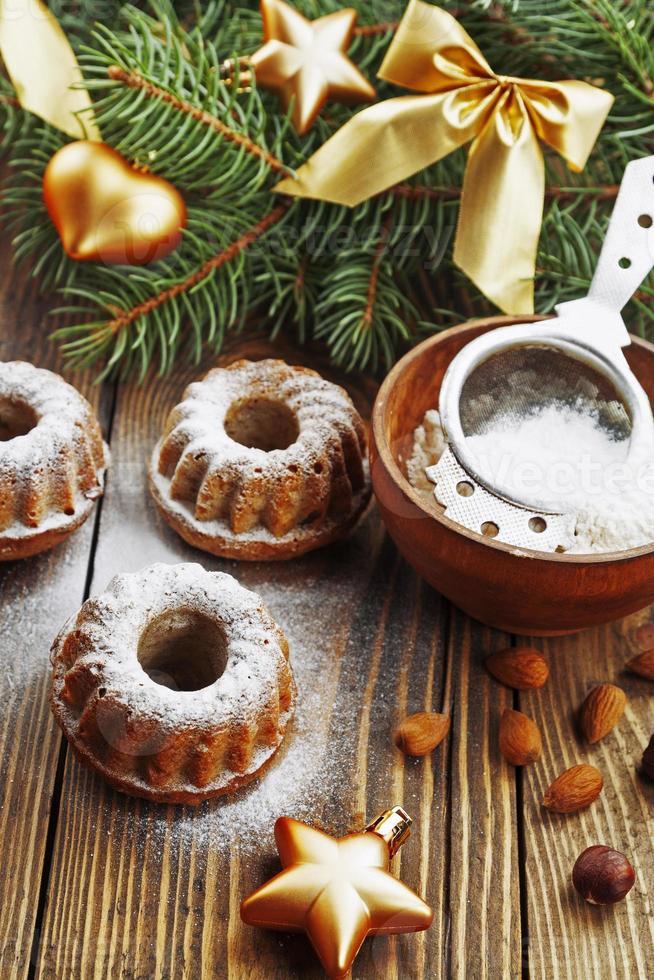 cupcakes con azúcar glass foto