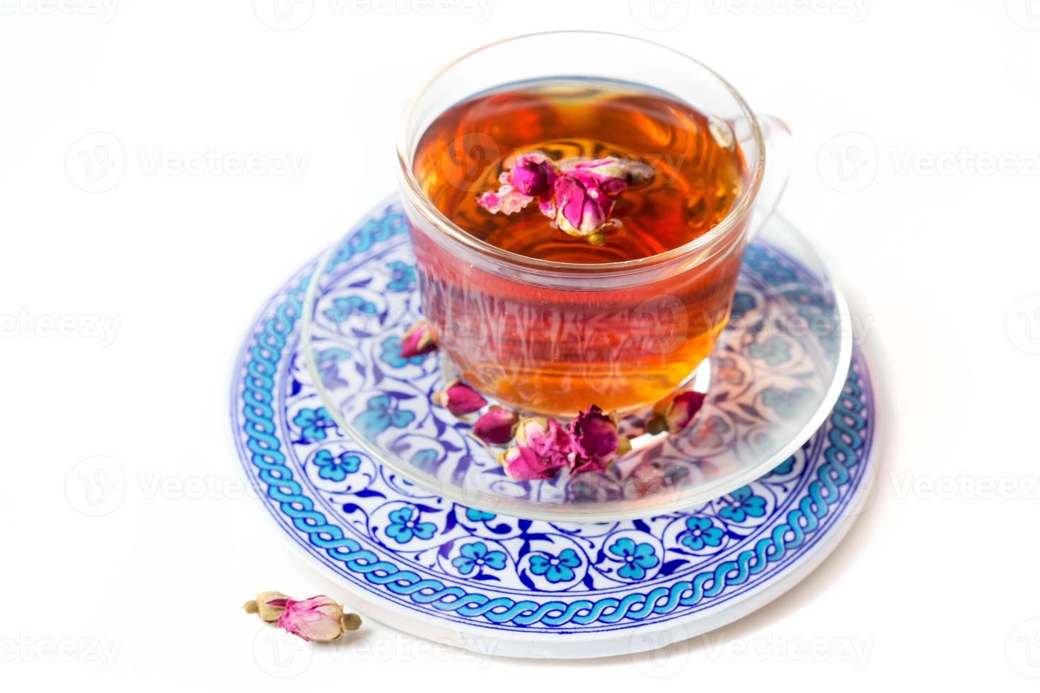 Tea with roses photo