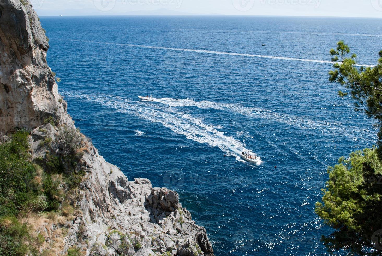 Boats Amalfi Coast peninsula photo
