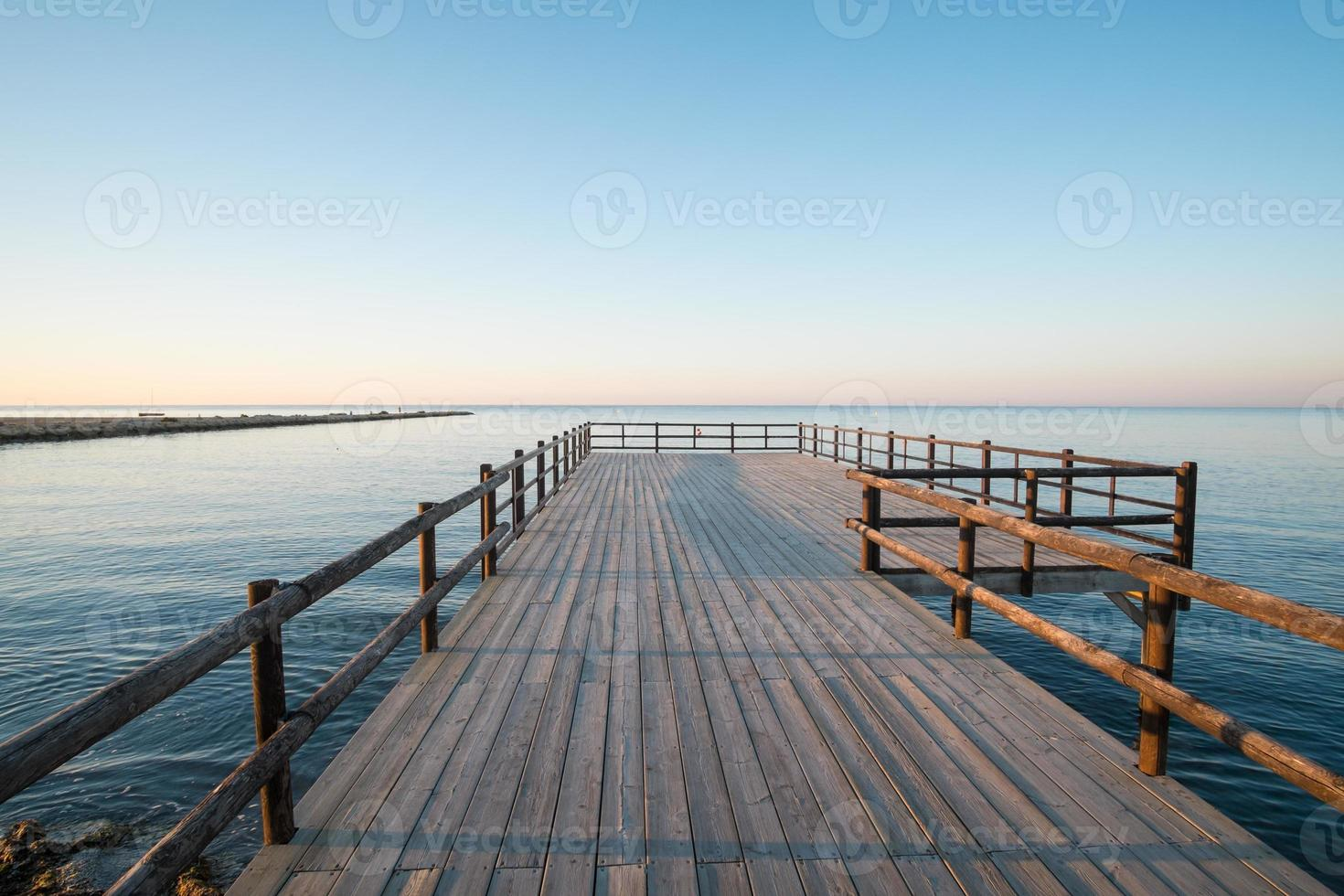 Wooden jetty photo
