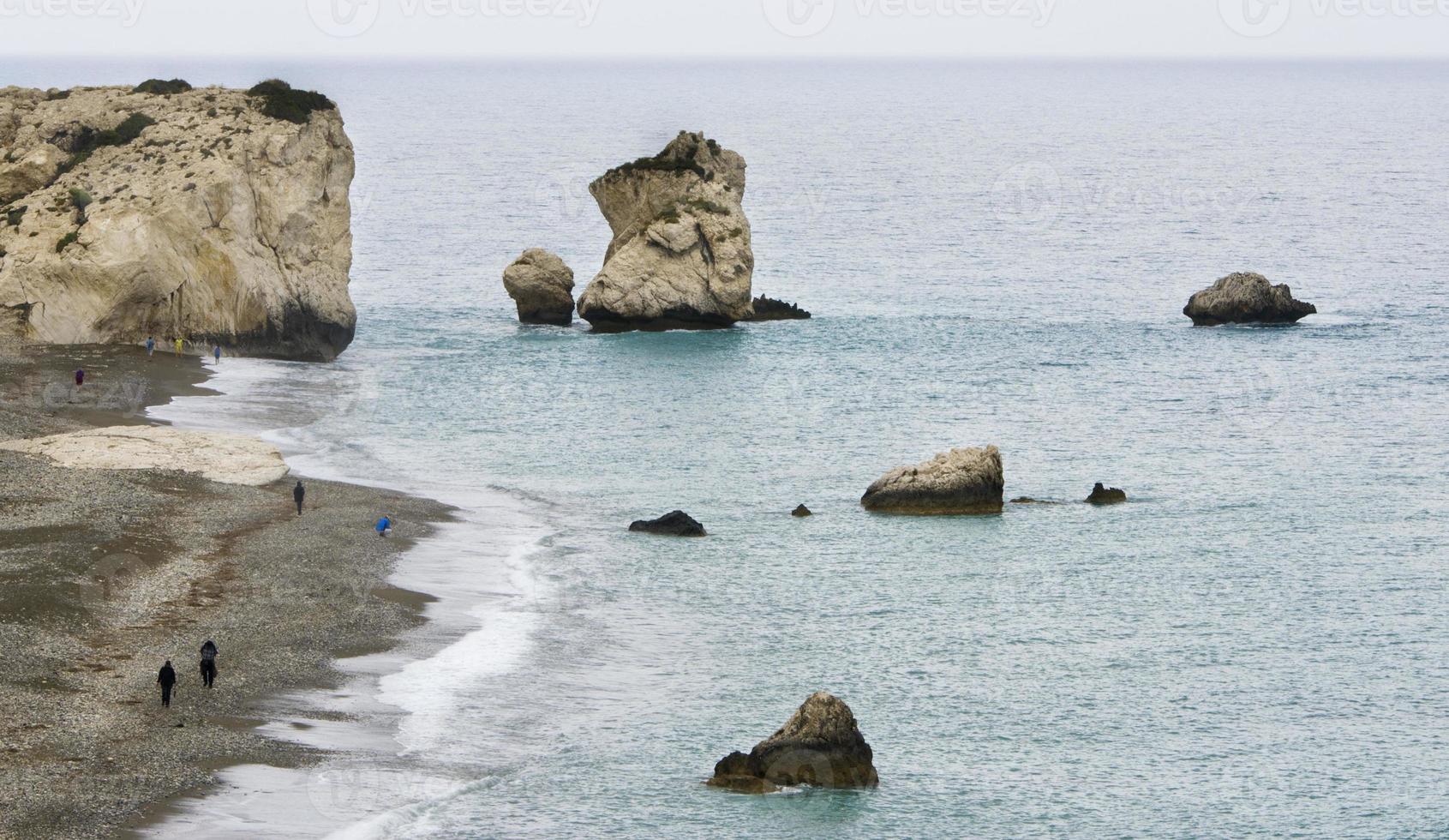 Rock of Aphrodite beach, Paphos photo