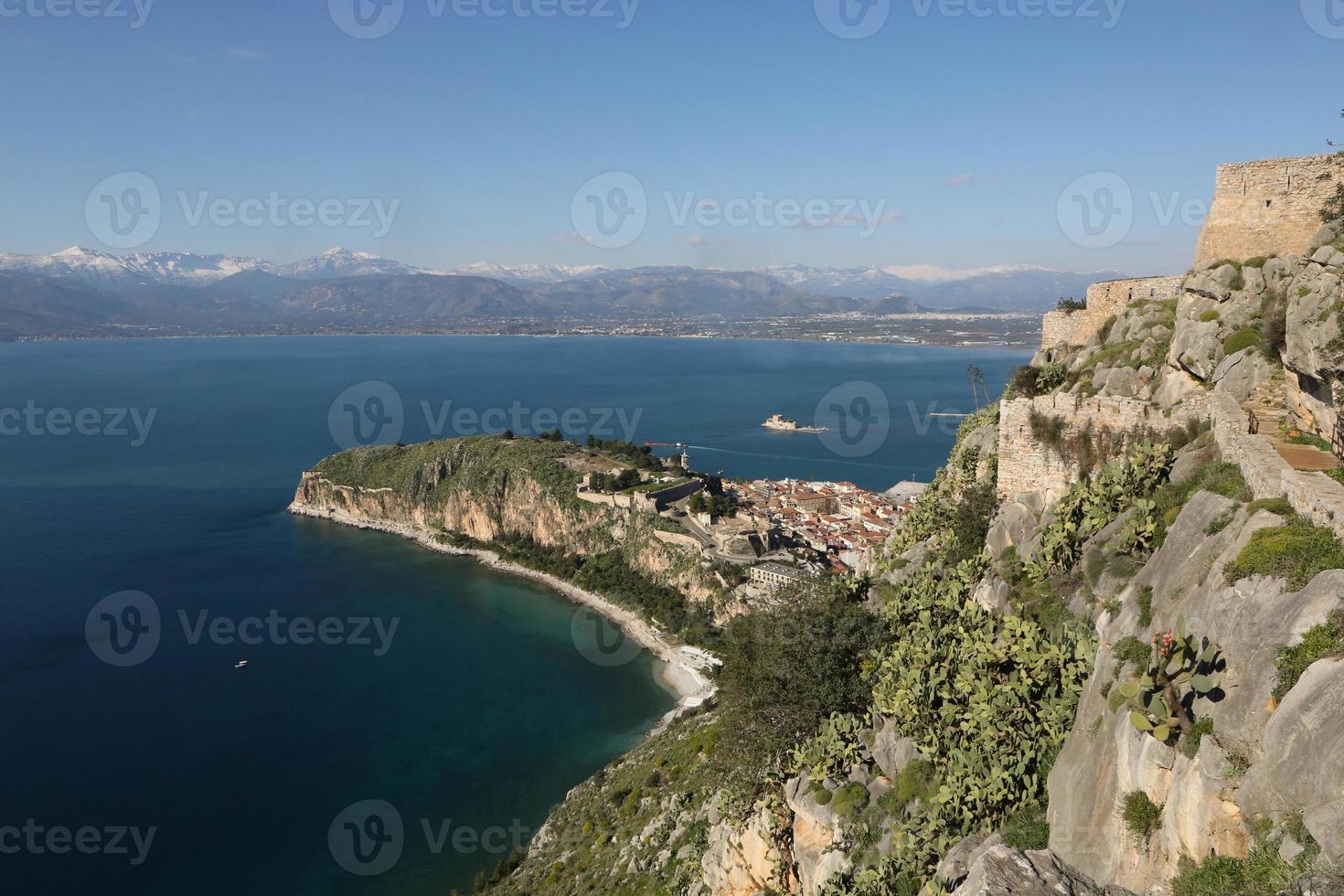 Castillo de palamidi en Nauplia, Grecia foto