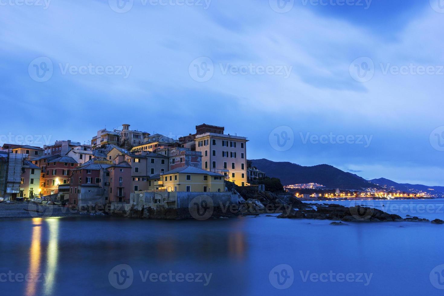 Boccadasse - old neighbourhood of the Italian city of Genoa photo