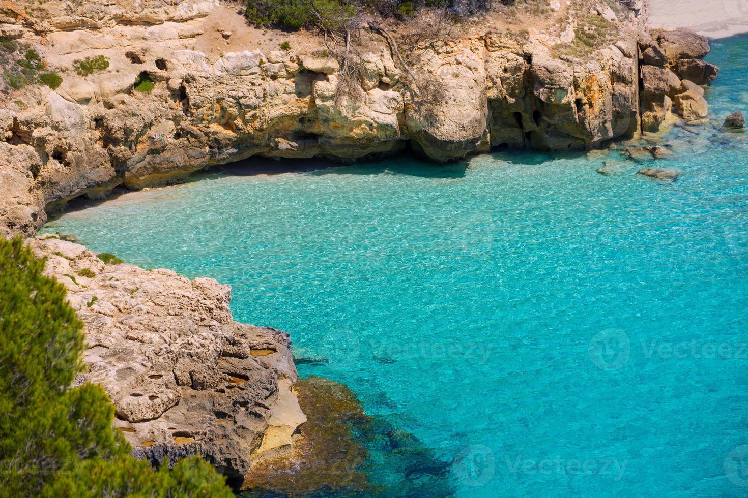 Cala Mitjana y Mitjaneta in Menorca Ciutadella at Balearic photo