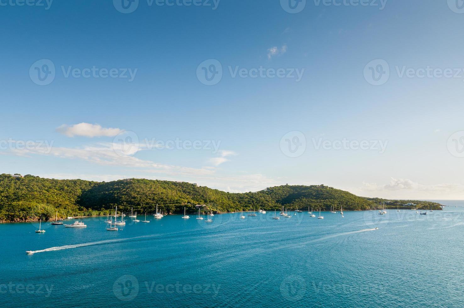 Sailboats in the Caribbean photo