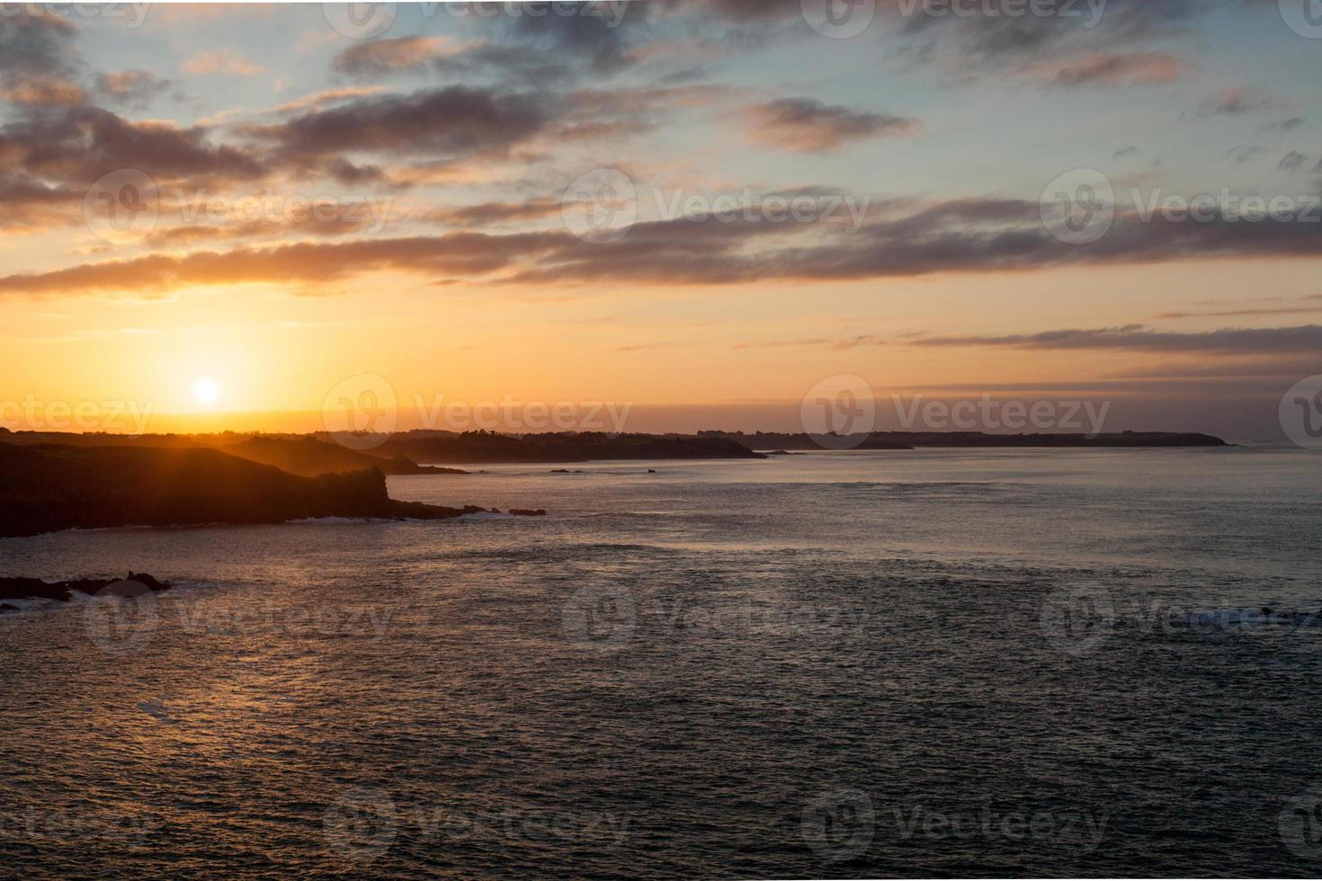 Sea at sunset, Cote D'Emeraude, Cancale, Ille-Et-Vilaine, Britta photo