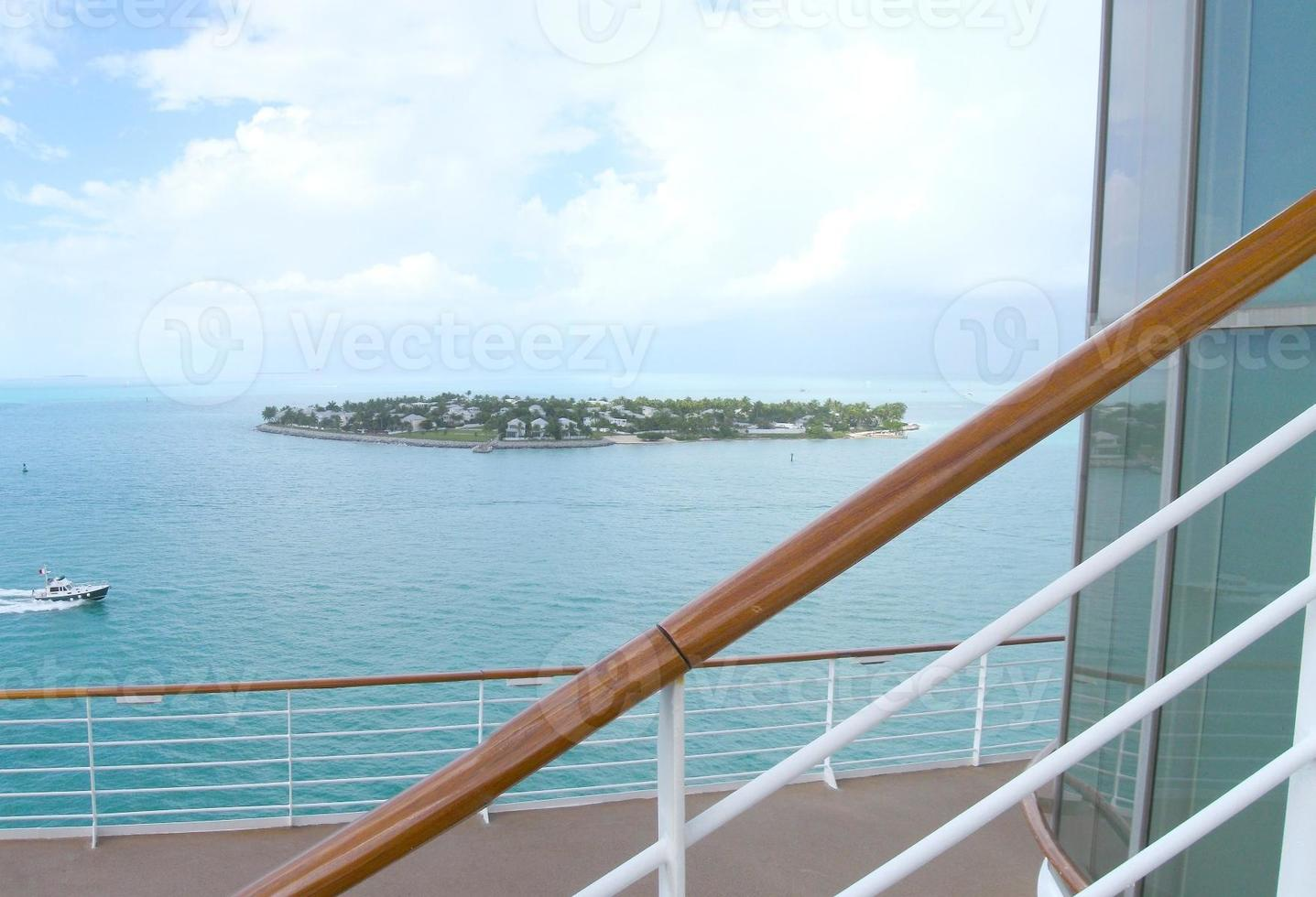 Cruise ship deck scenery photo