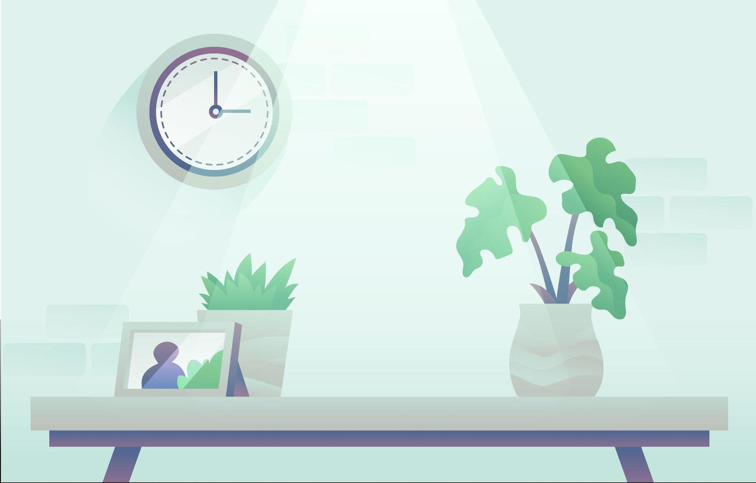 Calm Workspace Virtual Meeting Background vector