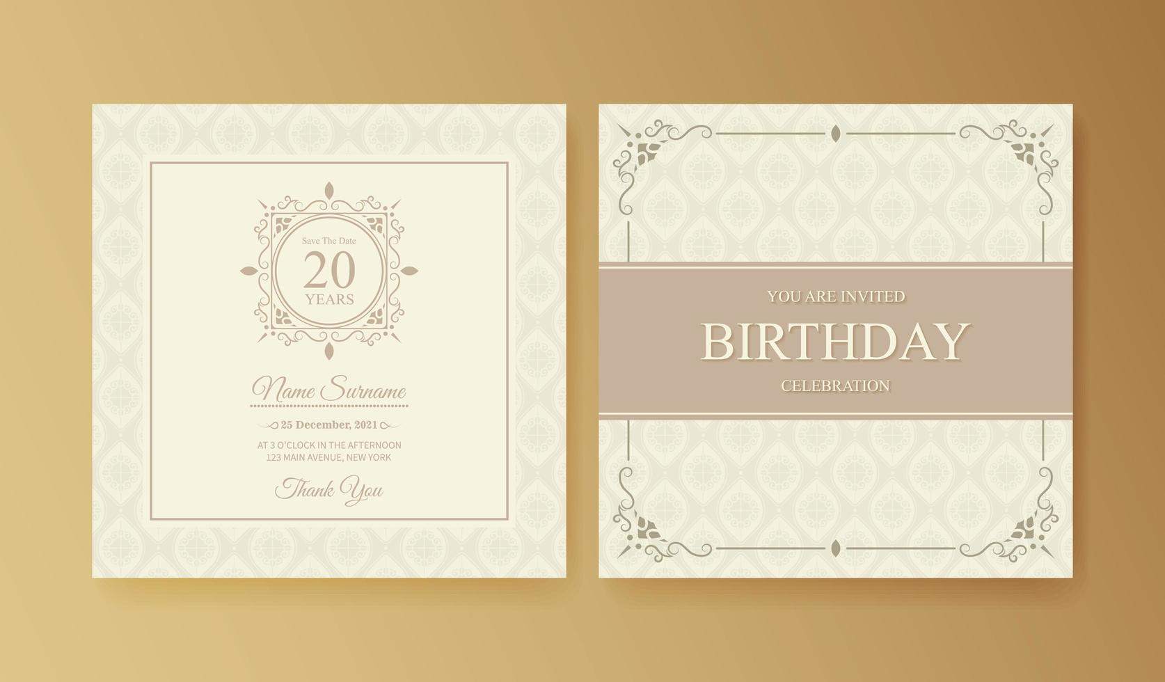 Elegant birthday invitation template - Download Free Vectors
