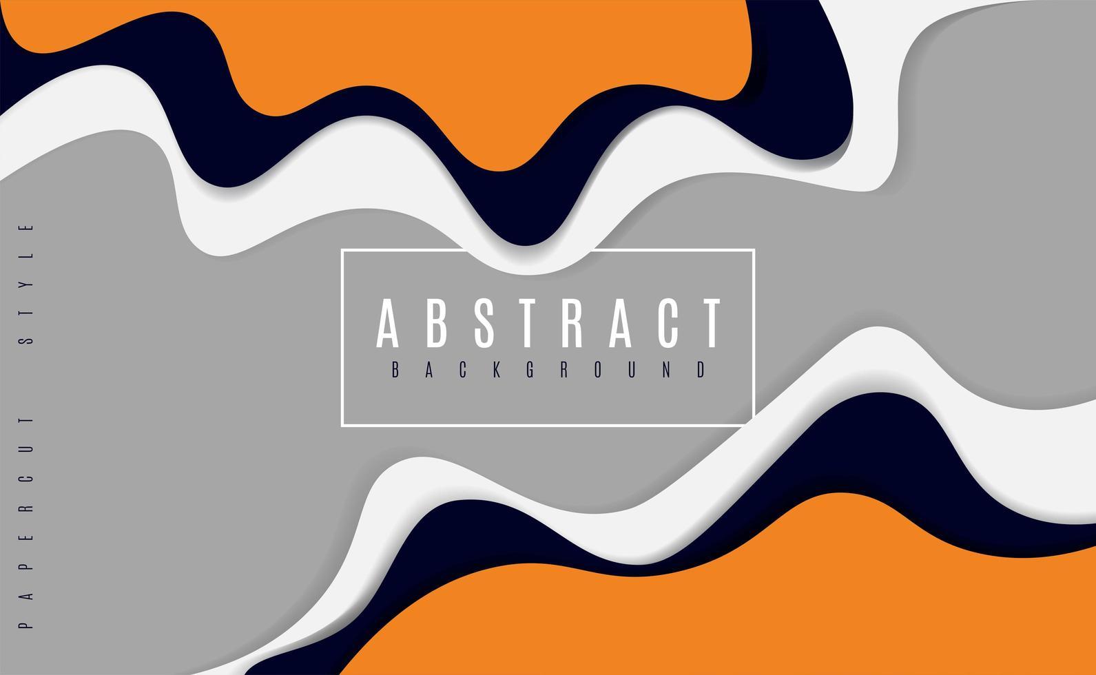 diseño abstracto ondulado en capas de papel cortado vector