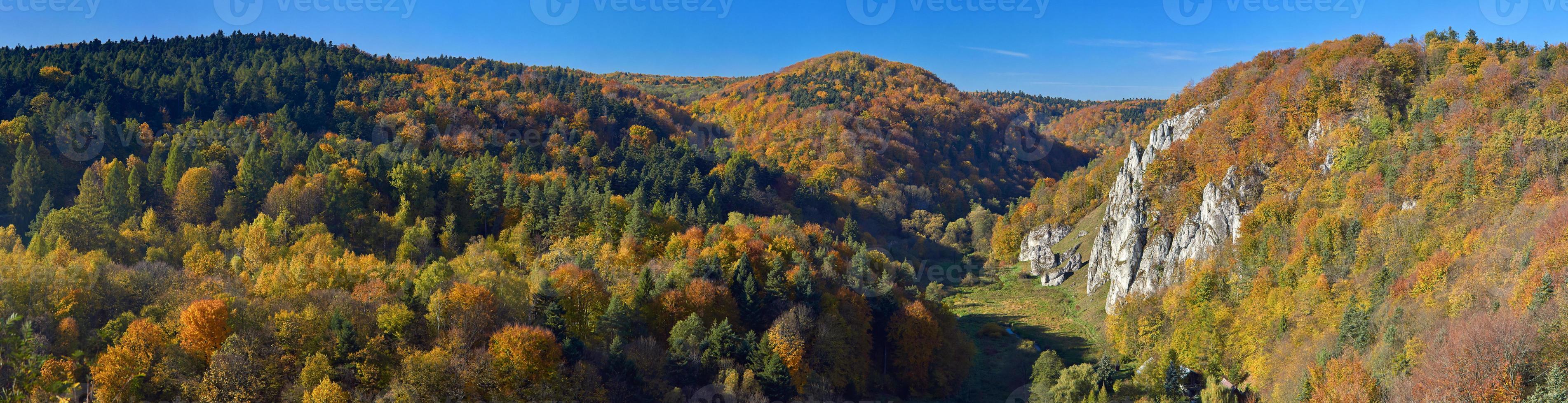 Autumn in Ojcow National Park. photo