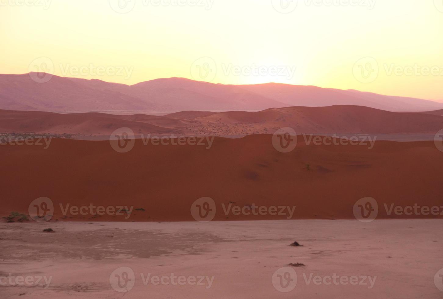 Sunrise at Sossusvlei photo