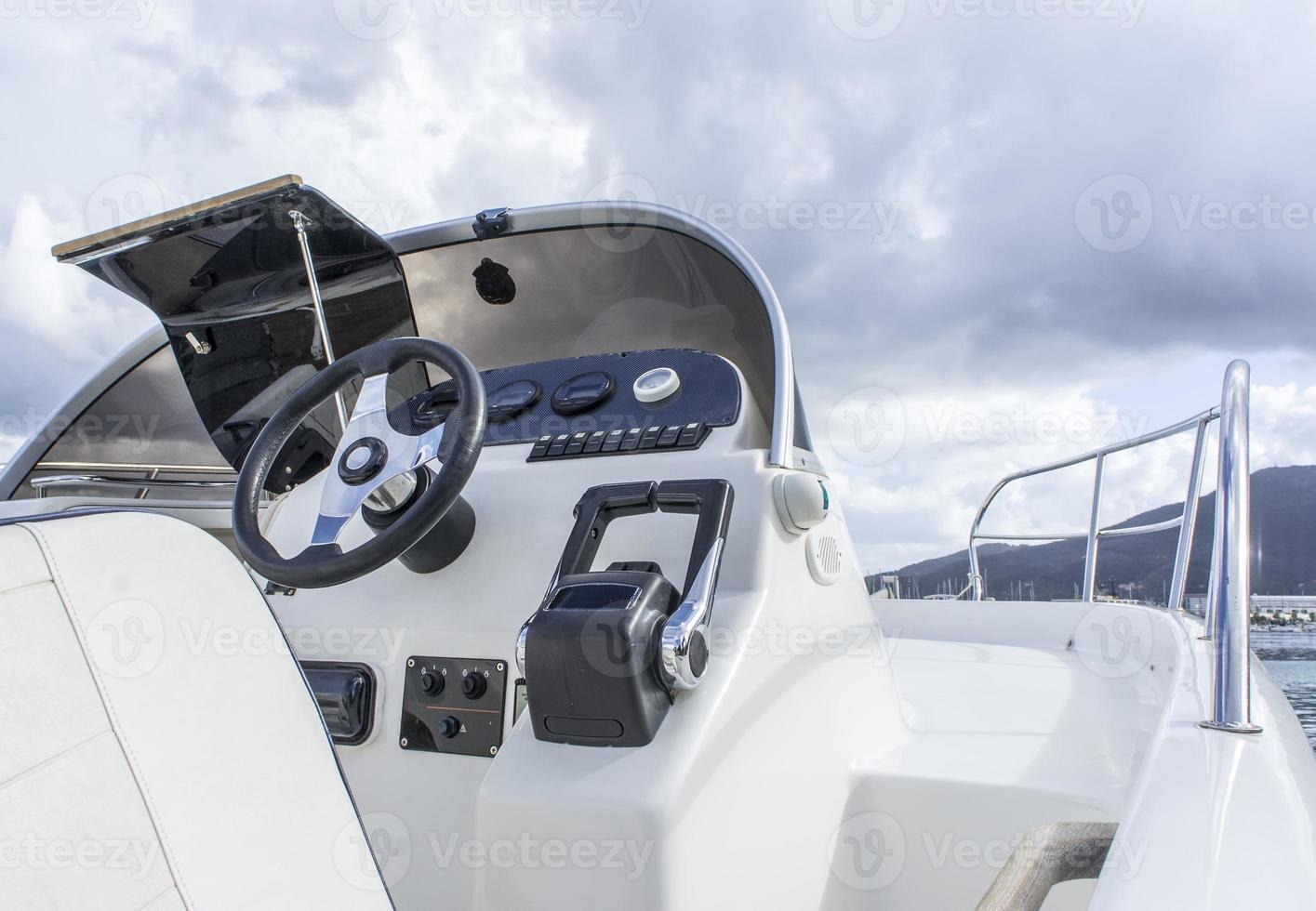 Boat cockpit photo