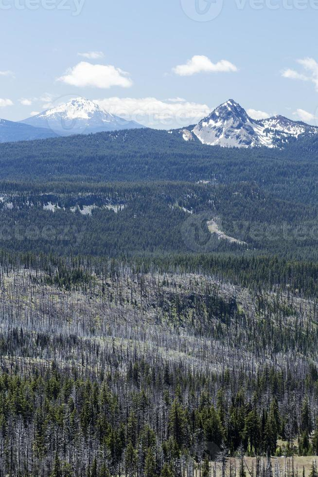 Mountain View from the Rim of Crater Lake photo