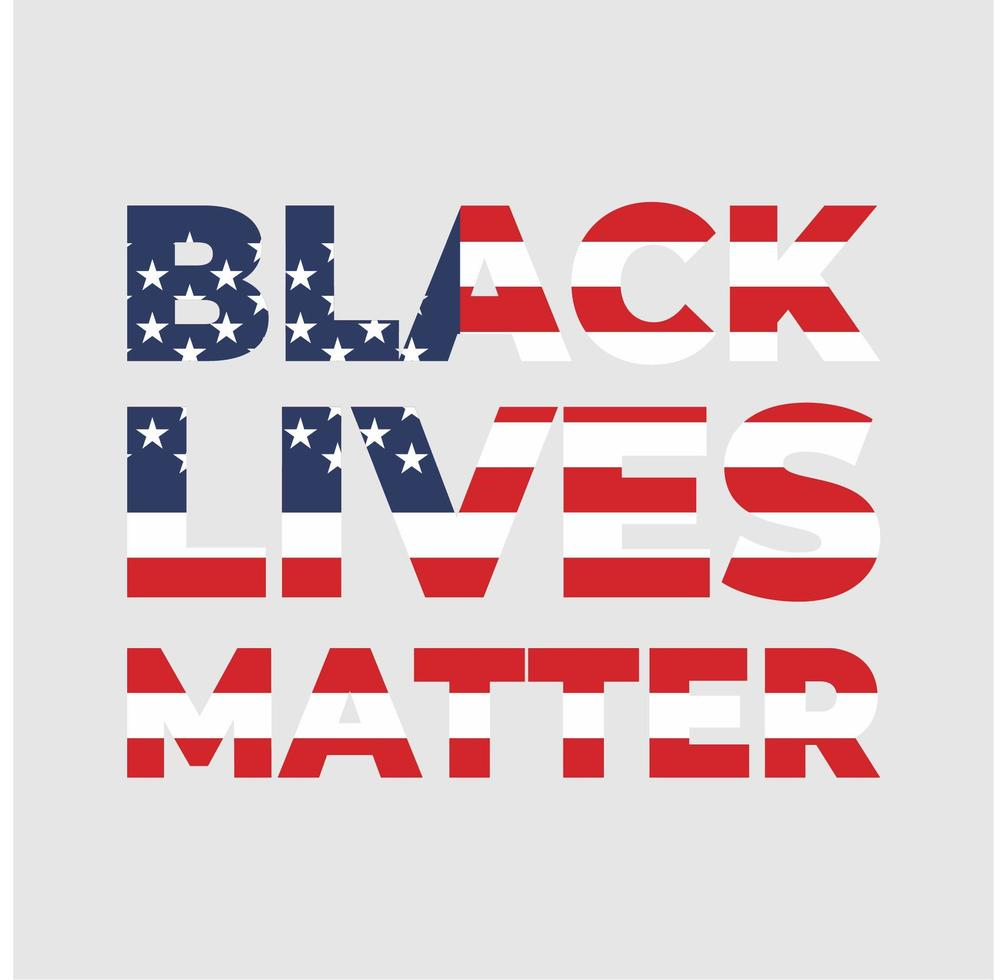 ''Black Lives Matter'' Poster vector